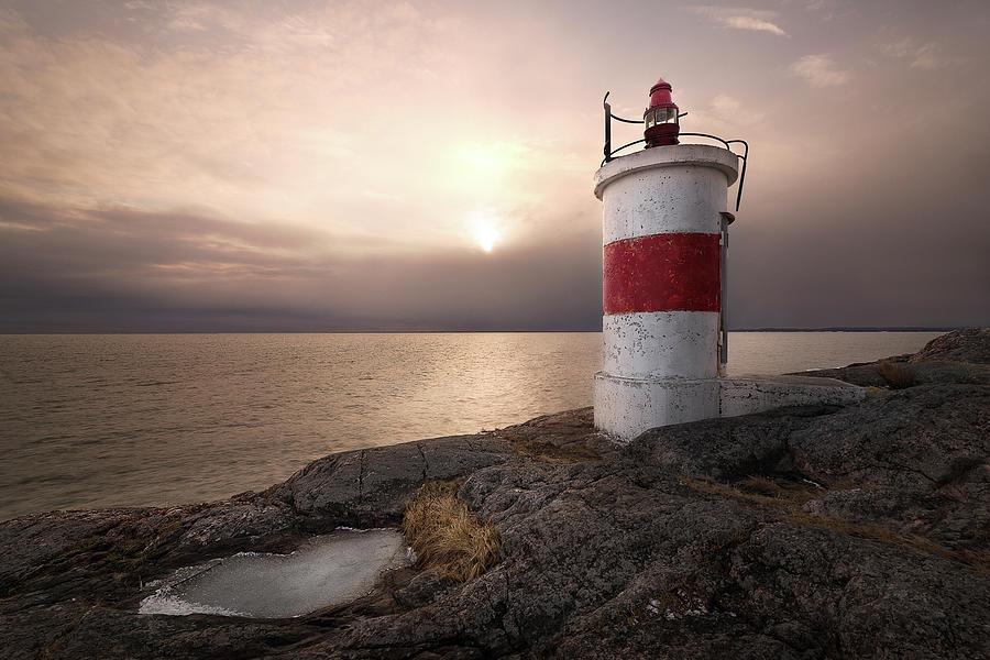 Lighthouse Photograph - Fema??re by Christian Lindsten