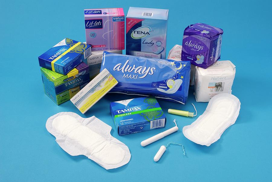 Nobody Photograph - Feminine Hygiene Products by Trevor Clifford Photography/science Photo Library