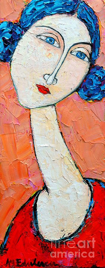 Portrait Painting - Femininity by Ana Maria Edulescu