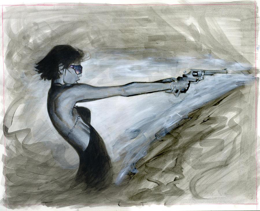 Femme Painting - Femme Fatale by Luis  Navarro
