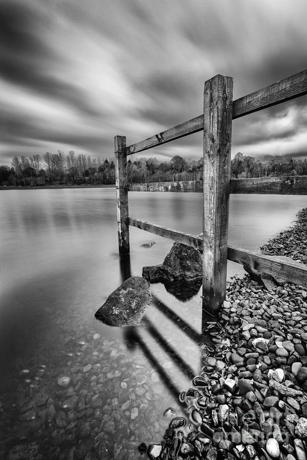 Scotland Photograph - Fence In The Loch  by John Farnan