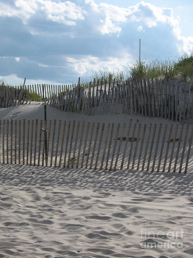 Fence Photograph - Fenced Dune by Christiane Schulze Art And Photography