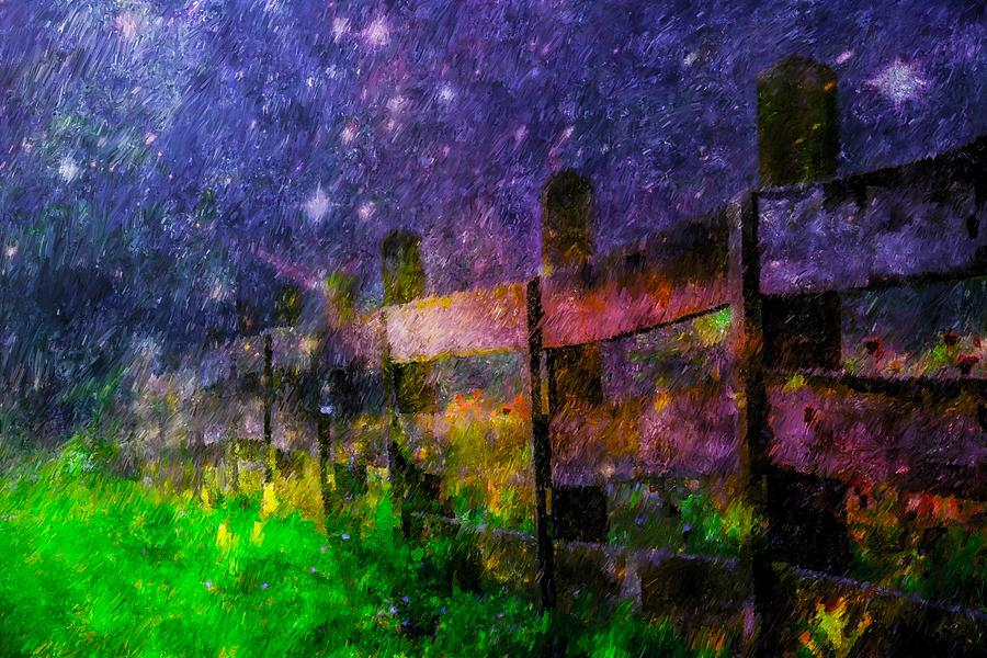 Fenced In Universe Painting