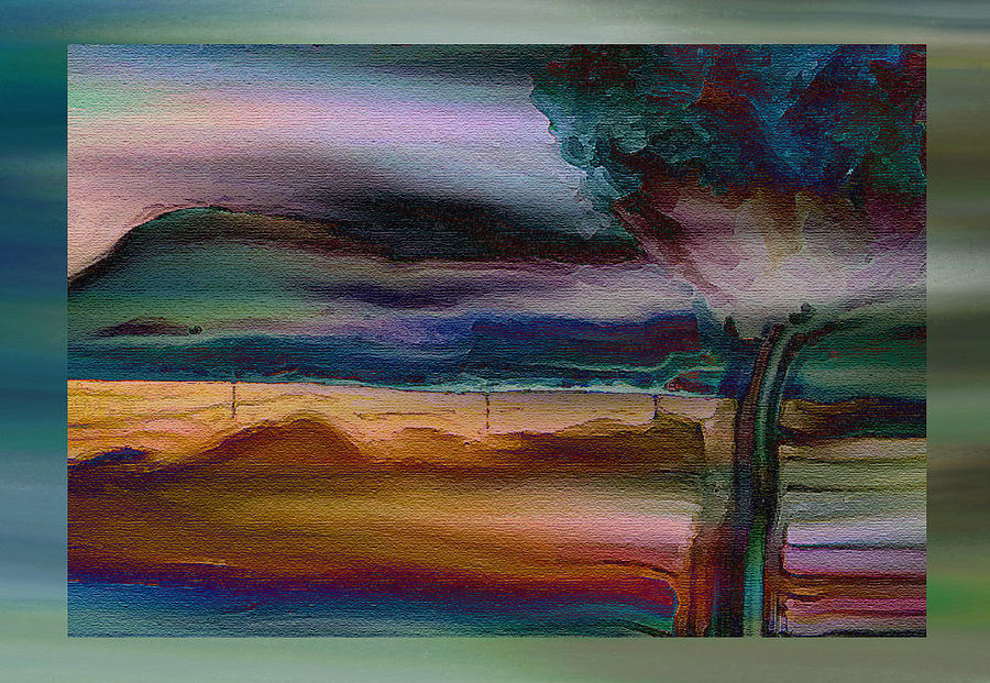 Expressive Mixed Media - Fences In The Mist by Lenore Senior