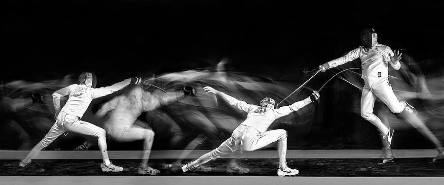 Fencing Photograph - Fencing #1 by Hilde Ghesquiere