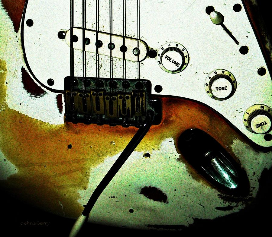 Music Photograph - Fender Detail  by Chris Berry