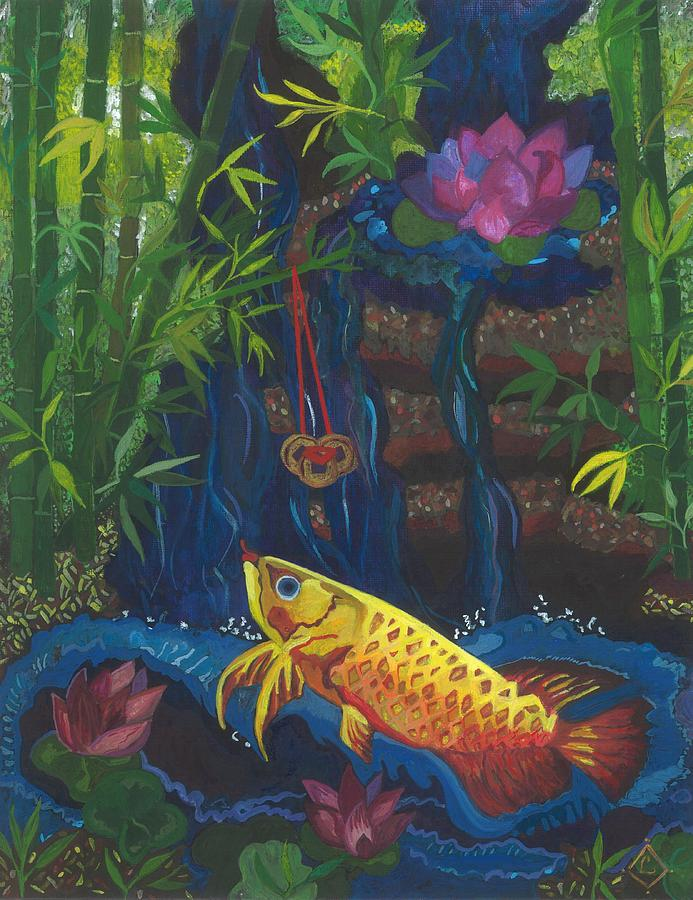 Feng Shui Wealth Corner Blessing #2 Painting By Lily Diamond