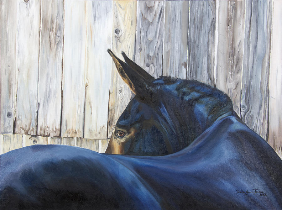 Mule Painting - Fenway Bartholomule by Shaila Yovan Tenorio