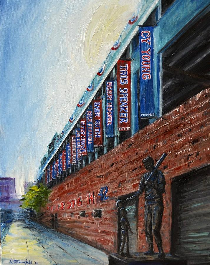 Fenway Painting - Fenway Boston by Karen Strangfeld