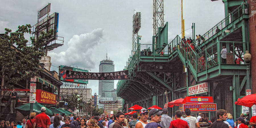 Red Sox Photograph - Fenway Bustle by Joann Vitali