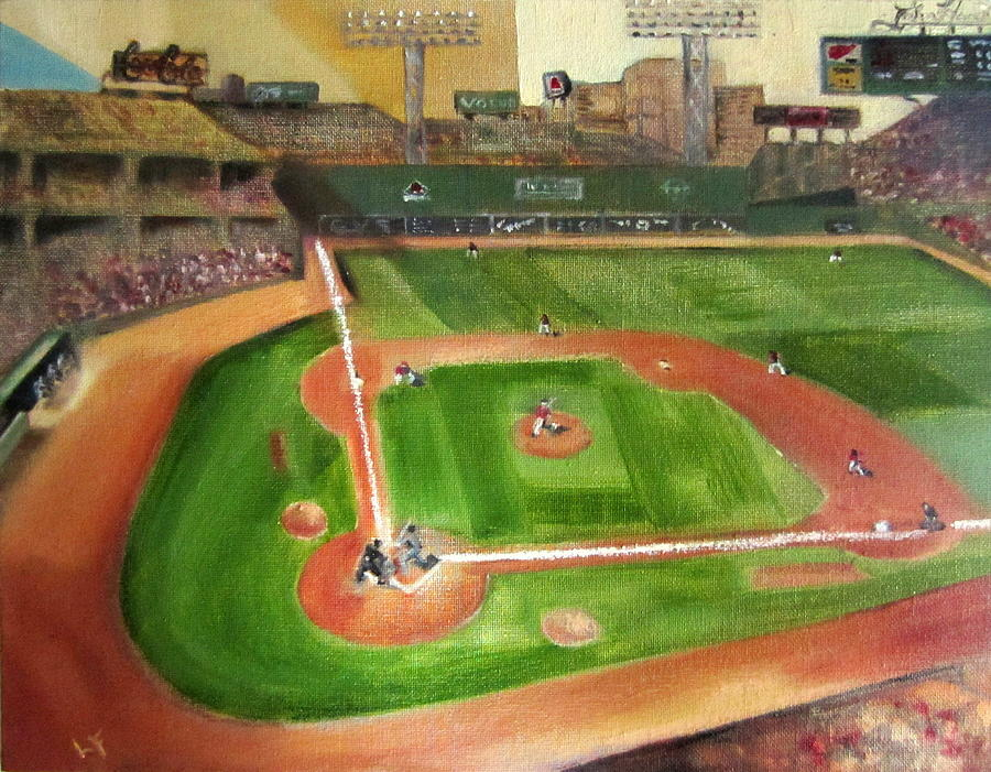 Fenway Park Painting - Fenway Park by Lindsay Frost