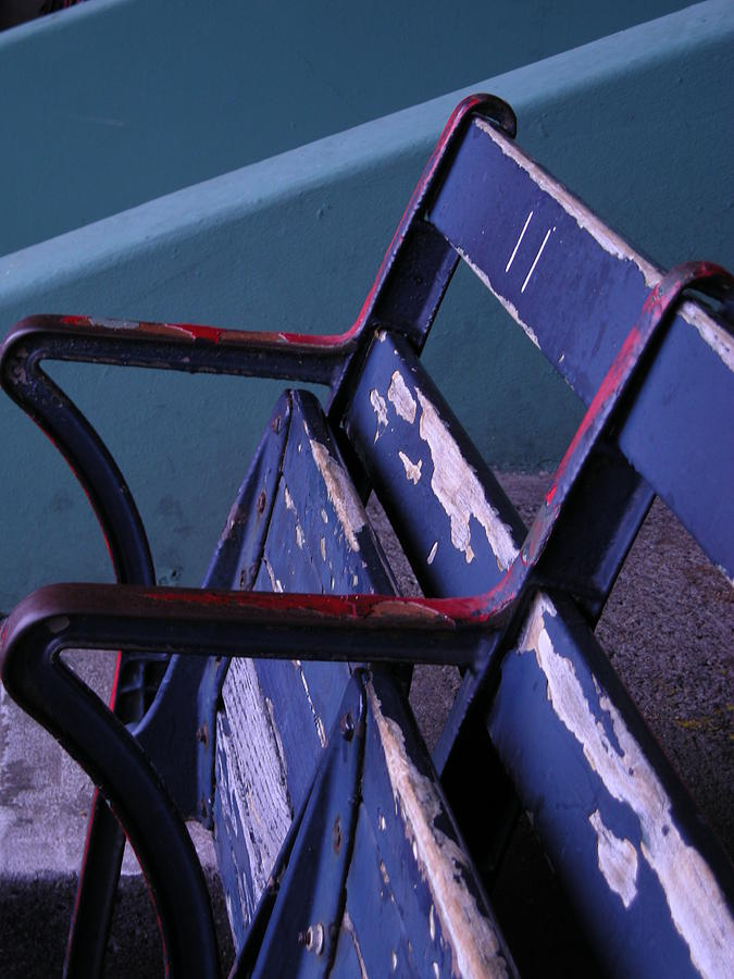 Fenway Photograph - Fenway Park Third Base Seat by Brian Hoover