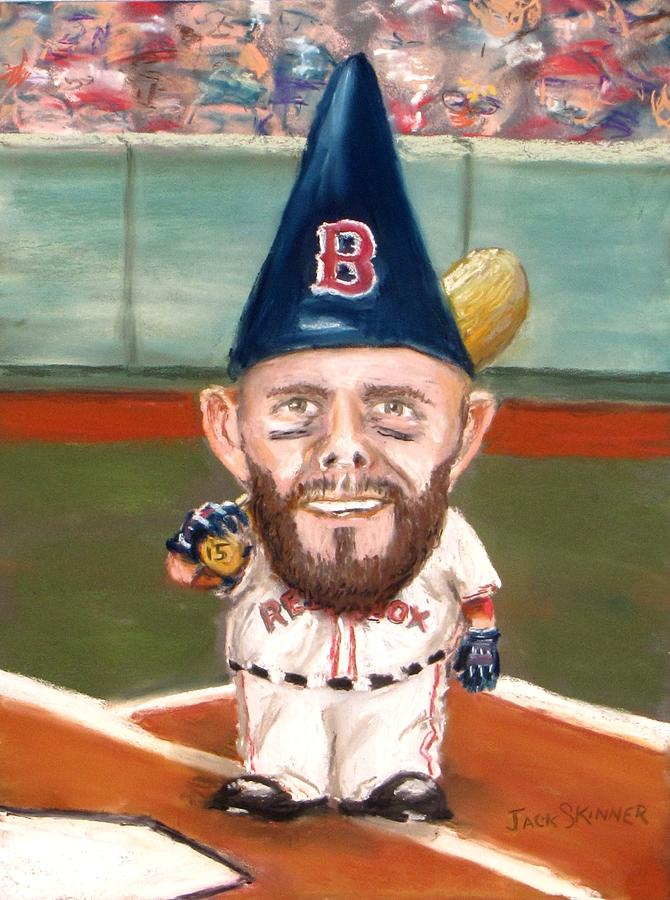 Boston Red Sox Painting - Fenways Garden Gnome by Jack Skinner