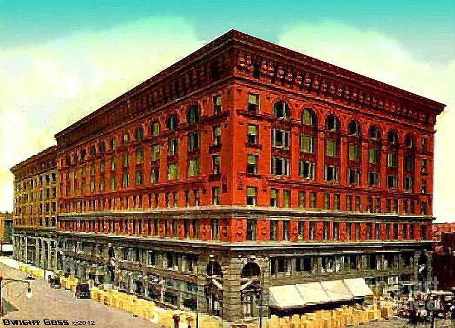 Ferguson Mckinney\'s Department Store In St. Louis Mo 1910 Painting ...