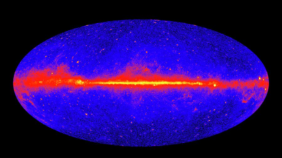 fermi gammaray space telescope sky map photograph by nasa
