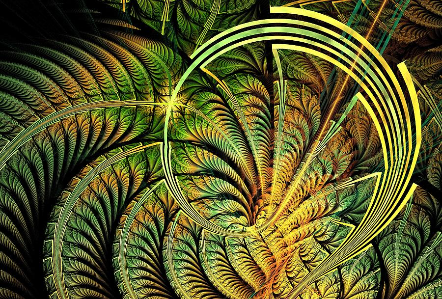 Curve Digital Art - Fern Loop by Anastasiya Malakhova