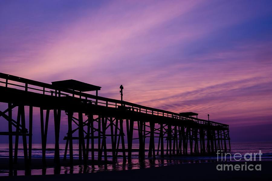 Sunrise Photograph - Fernandina Fishing Pier At Sunrise by Dawna  Moore Photography