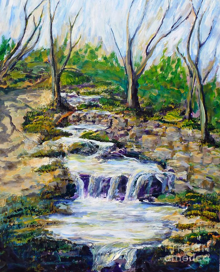 Los Angeles Painting - Ferndell Creek Noon  by Randy Sprout