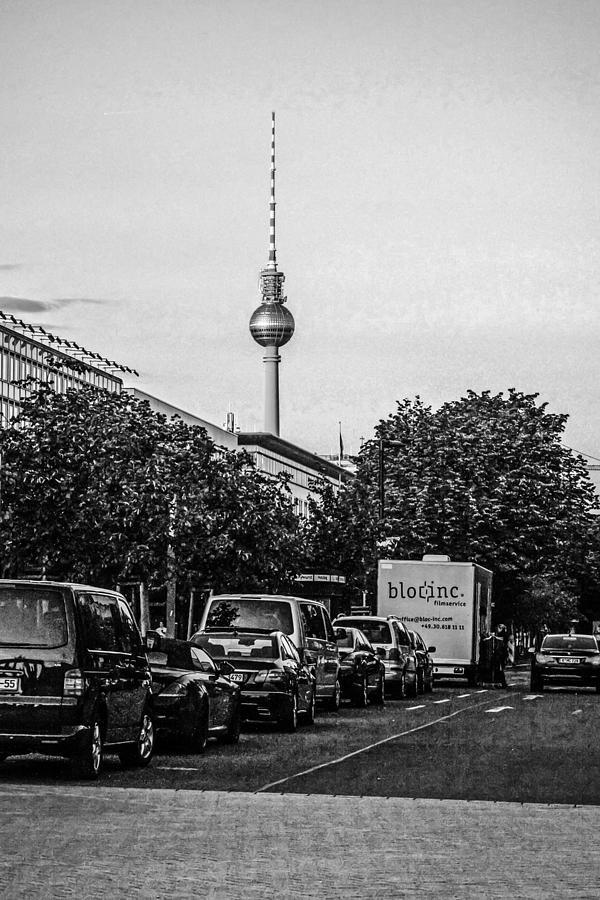Fernsehturm Photograph - Fernsehturm-tower by Chris Smith