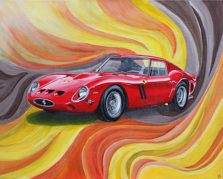 Ferrari 250 Gto Painting By Jennifer Hayes