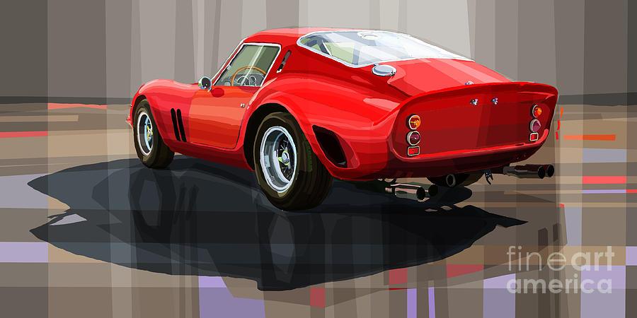 Drawing Digital Art - Ferrari 250 Gto by Yuriy Shevchuk