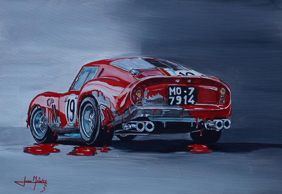 Ferrari Painting - Ferrari 250gto by Juan Mendez