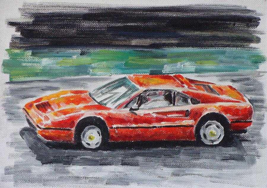 Auto Painting - Ferrari 328 by Ildus Galimzyanov