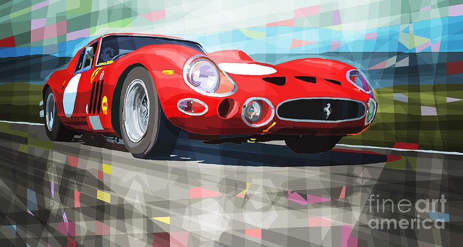 Automotive Digital Art - Ferrari 330 Gto 1962 by Yuriy Shevchuk