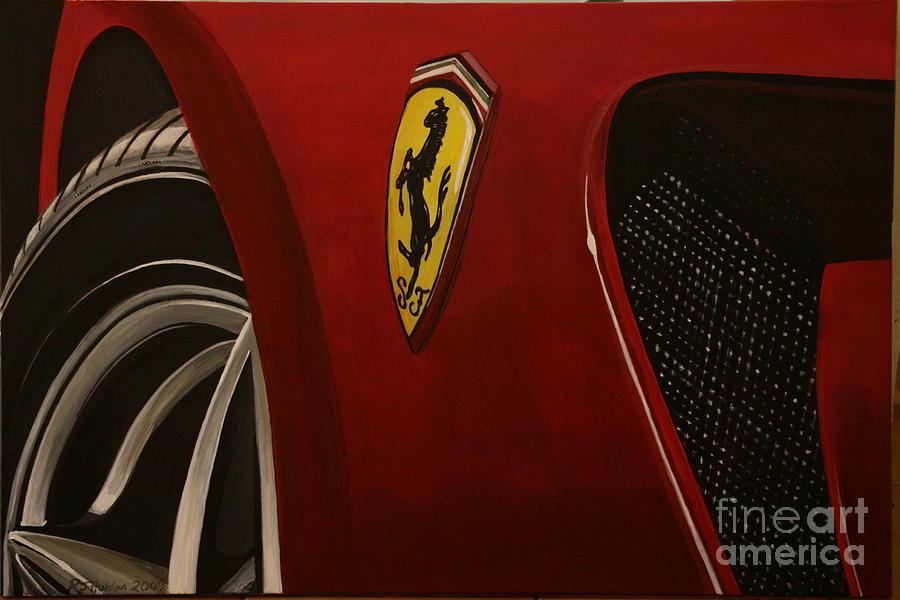 Ferrari Painting - Ferrari 599 Gtb Fiorano by Richard John Holden RA