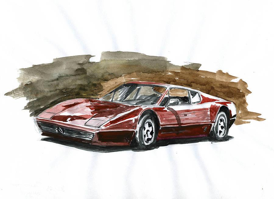Auto Painting - Ferrari Bb 512 by Ildus Galimzyanov