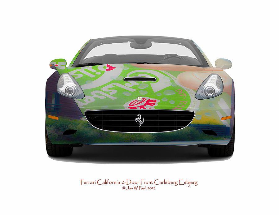 Car Photograph - Ferrari California Carlsberg Esbjerg by Jan W Faul