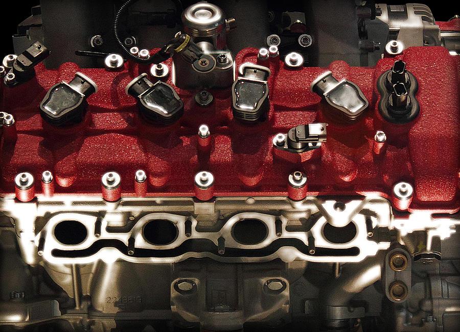 Ferrari Photograph - Ferrari Engine by Radoslav Nedelchev