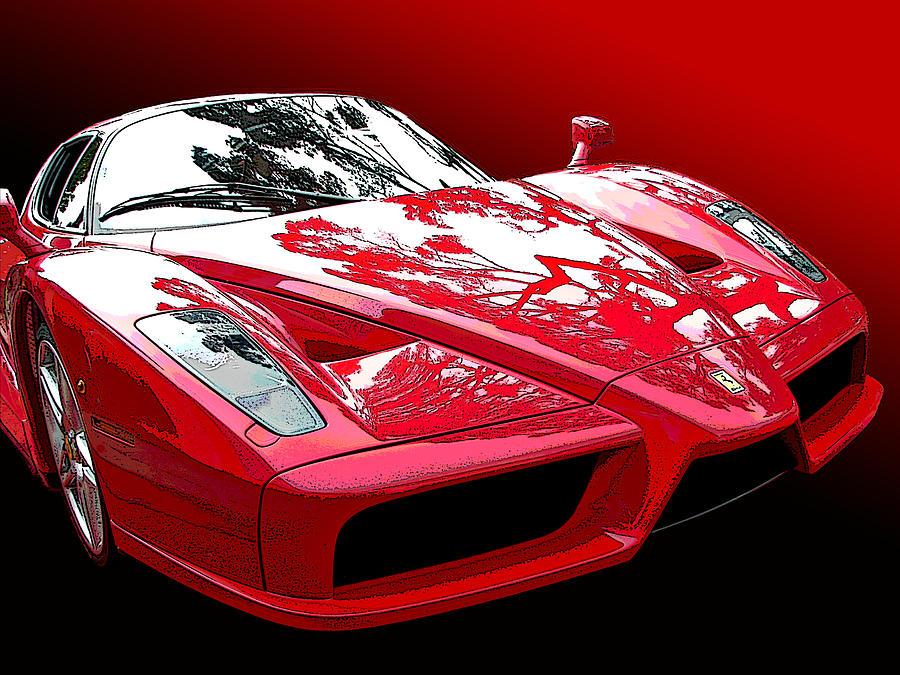 Ferrari Enzo Front Study by Samuel Sheats