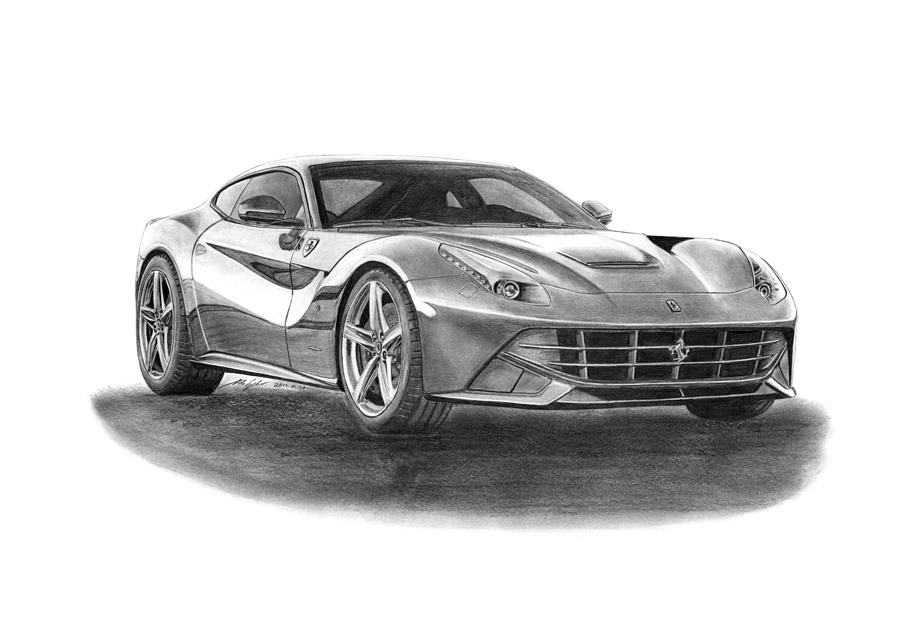 Ferrari F12 Berlinetta Drawing By Gabor Vida