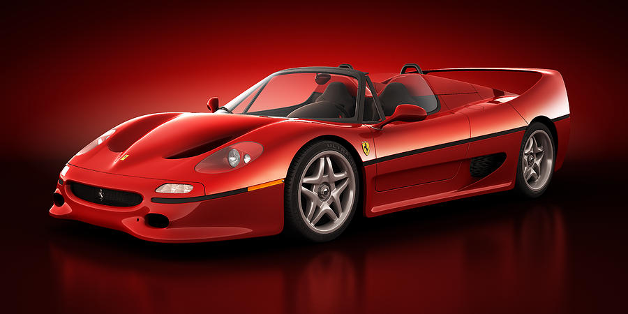 Transportation Digital Art - Ferrari F50 - Flare by Marc Orphanos