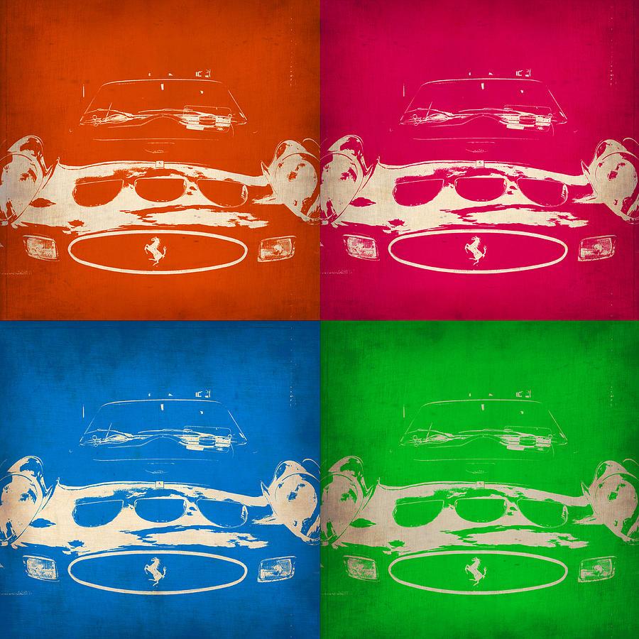 Ferrari Gto Painting - Ferrari Front Pop Art 4 by Naxart Studio