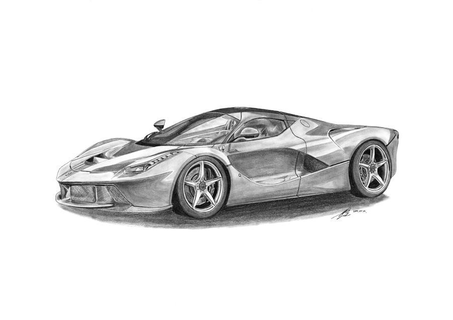 Ferrari Laferrari Drawing By Gabor Vida