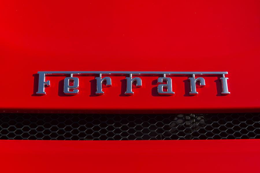 Ferrari Name Badge Photograph By Roger Mullenhour
