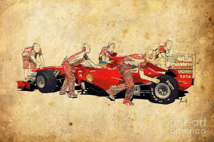 Ferrari Drawings | Fine Art America