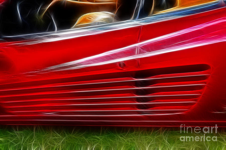 Red Photograph - Ferrari Testarossa Red by Paul Ward