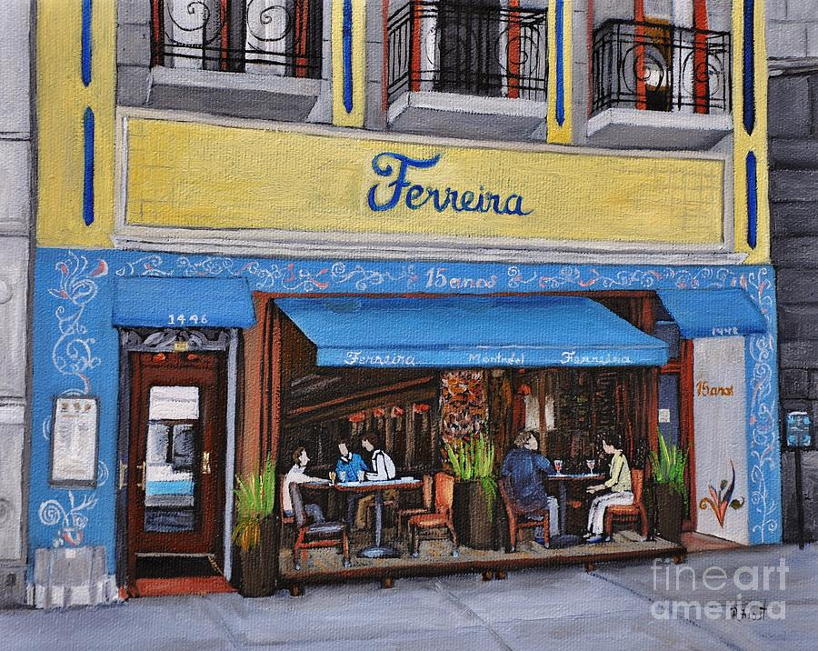 Portuguese Restaurants Painting - Ferreira Cafe  by Reb Frost