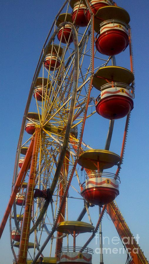 Carnival Photograph - Ferris Wheel 2 by September  Stone
