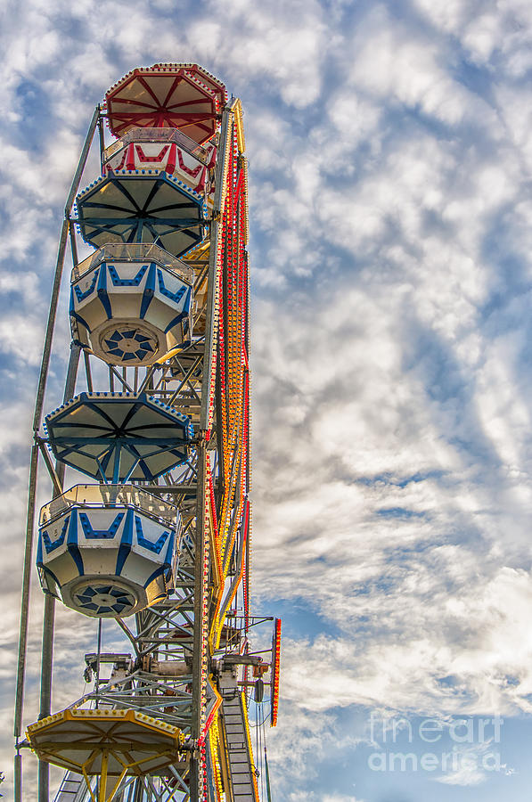Sky Photograph - Ferris Wheel by Antony McAulay