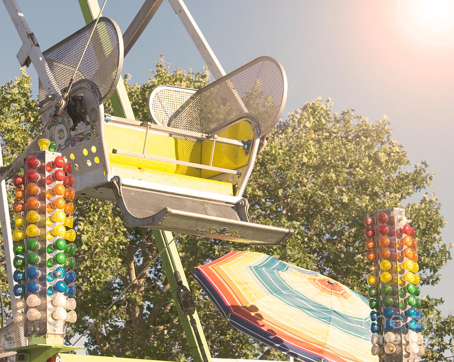 Yellow Photograph - Ferris Wheel Bucket by Cindy Garber Iverson