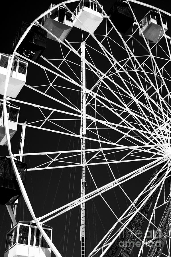 Ferris Wheel Photograph - Ferris Wheel Lines by John Rizzuto