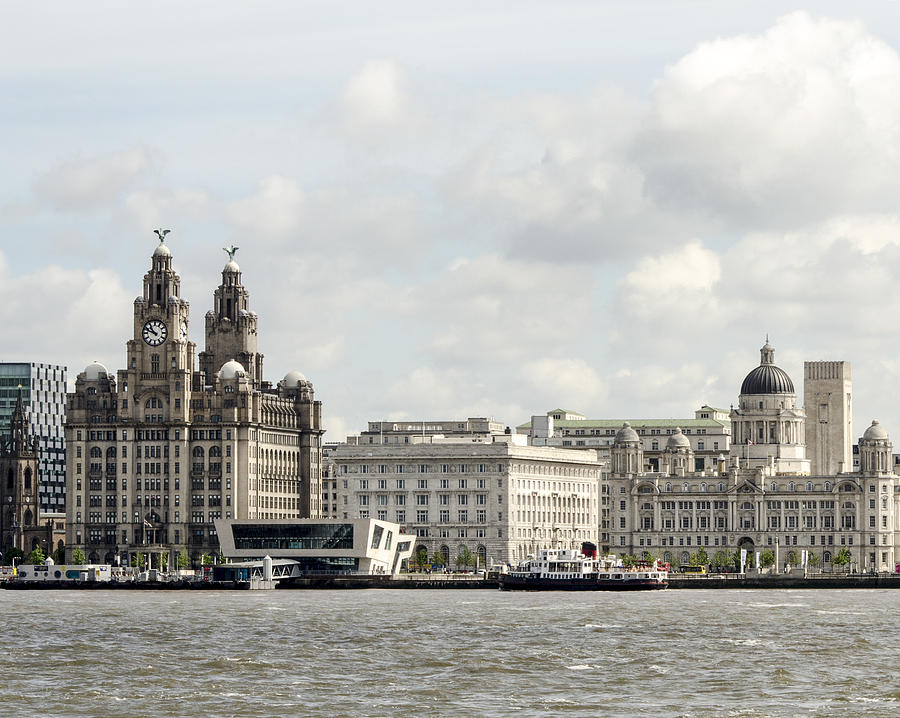 Ferry Photograph - Ferry At Liverpool by Spikey Mouse Photography