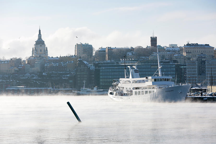 Ferry In Fog Photograph by Johner Images