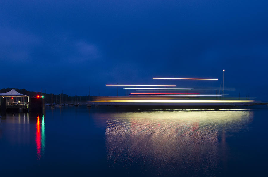 Martha's Vineyard Photograph - Ferry Light by Steve Myrick
