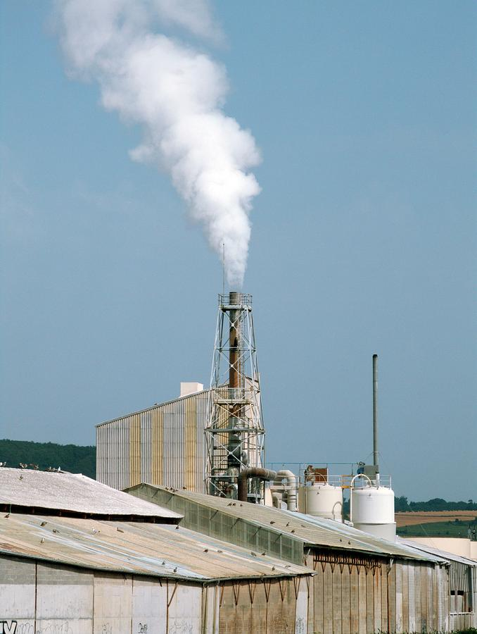 Smokestack Photograph - Fertiliser Factory Smokestack by Alex Bartel