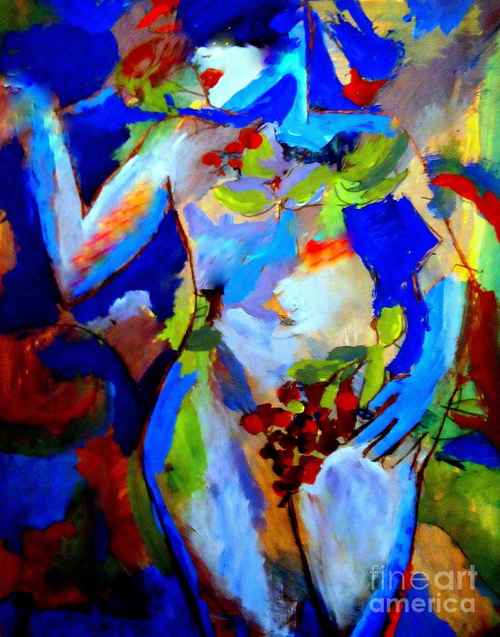 Nude Figures Painting - Fertility by Helena Wierzbicki